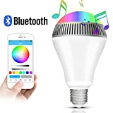 Lampadina Bluetooth Altoparlante, Morpilot LED Lampada Intelligente E27, Luce della Sera RGB / Audio Mini Altoparlante + Luci Multicolore - Funziona con IPhone, IPad, Apparecchi Android e Tablet