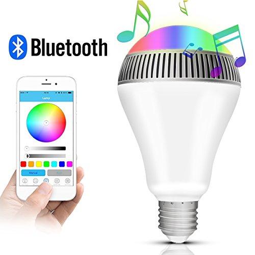 Morpilot Bombilla de LED Inteligente con Bluetooth 4.0 Altavoz,Playbulb de Música LED E27 Bombilla de luz LED RGB Regulable para Decoración Lluminación Aplicación Gratuita para iOS Android Smartphone