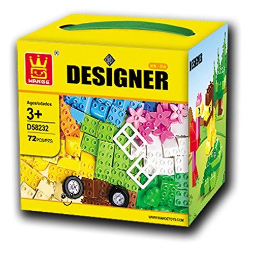 QXMEI Kinder Bausteine Spielzeug Puzzle Große Partikelgröße: 8.3 Zoll * 8.3 Zoll * 7.5 Zoll