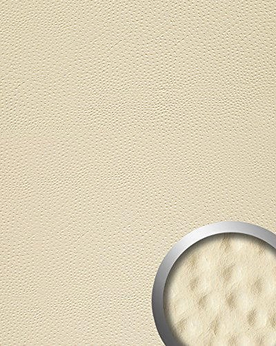 Wandpaneel Strauß Leder Luxus 3D WallFace 13401 OSTRICH Blickfang Dekor selbstklebend Tapete Verkleidung Creme | 2,60 qm -