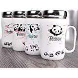 Satyam Kraft Ceramic Panda Printed Mug ,(1 Piece),White