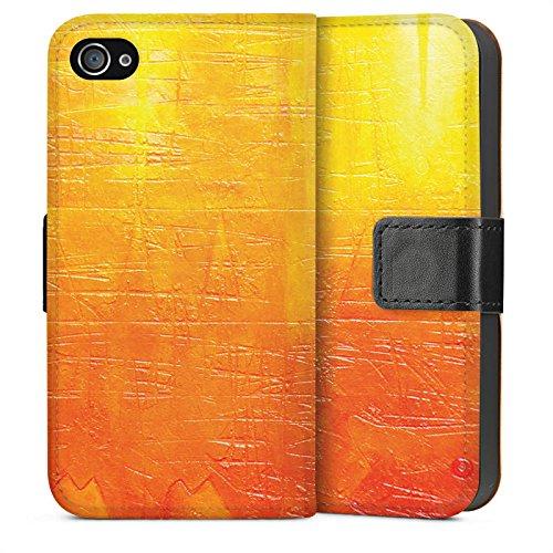 Apple iPhone 5s Housse Étui Protection Coque Egratignure Structure Peinture Sideflip Sac