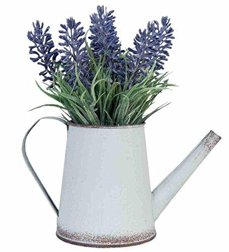 Clayre & Eef 6PL0189 Lavendel in Gießkanne Kunstblume Blumendekoration ca. 19 cm
