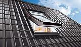 AFG Schweiz Skylight Premium Dachfenster PVC 94 x 118 mit Eindeckrahmen Dachflächenfenster Schwingfenster