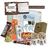 Premium Geschenk Schokoladen Weltreise | zahlreiche Schokoladenprodukte | besondere Geschenkidee mit internationalen Schoko S