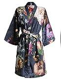 Essenza Satin-Kimono Fleur Größe M, Farbe Nightblue, M = 38, Nightblue