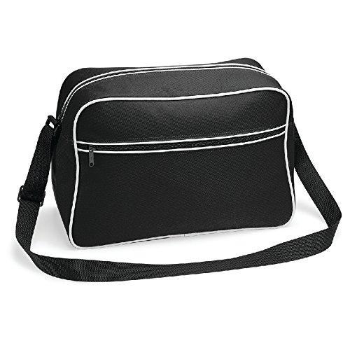 Retro Shoulder Bag- Borsa a tracolla regolabile Nero