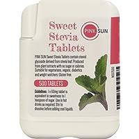 PINK SUN Stevia Comprimés 500 Onglets Substitut Alternatif de Sucre d'édulcorant Dans le Distributeur Pratique - Stevia Tablets Tabs