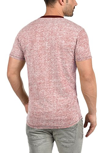!Solid Tellion Herren T-Shirt Kurzarm Shirt Rundhalsausschnitt Aus Hochwertiger Baumwollmischung Meliert Deco Rose (7322)