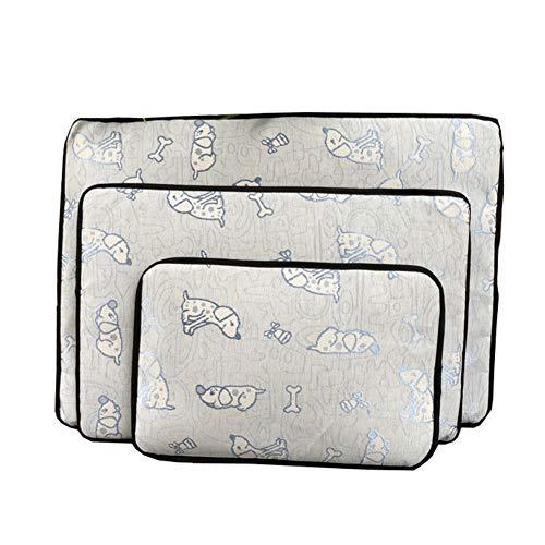 CHEN. Pet Cool Pad - Abnehmbare Hundeschlafmatte Ice Silk Cool Pad Summer Pet Matratze Summer Mat,Blue,XL - Voll Xl Matratze Pads