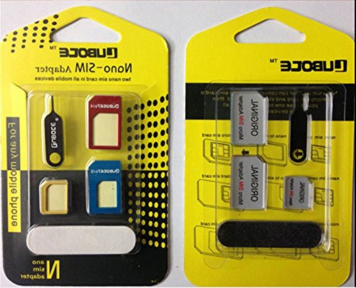 NOVAGO® 4 IN 1 Nano Micro Sim Adapter Simkarten Set für iPad Mini , iPhone 3, iPhone 4, iPhone 5 ,Samsung Galaxy Note 3 , Note 4 usw