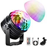 Disco Light (Upgrade), OMERIL 7 RGB Color Changing LED Night Light with Timer