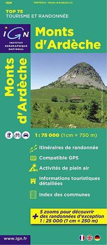 Monts d'Ardêche ign (Ign Map) par Institut Geographique National