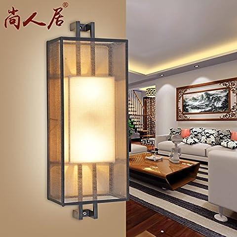 SEPONE Cina antica vento luci da parete salotto cinese decorati in un classico studio lampade luci da parete , a doppia testata di oro