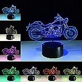 Lampada da tavolo a forma di motore a luce notturna Lampada da tavolo a 7 colori Cambio di motociclette Lampada a sospensione Lampada a LED 3D USB