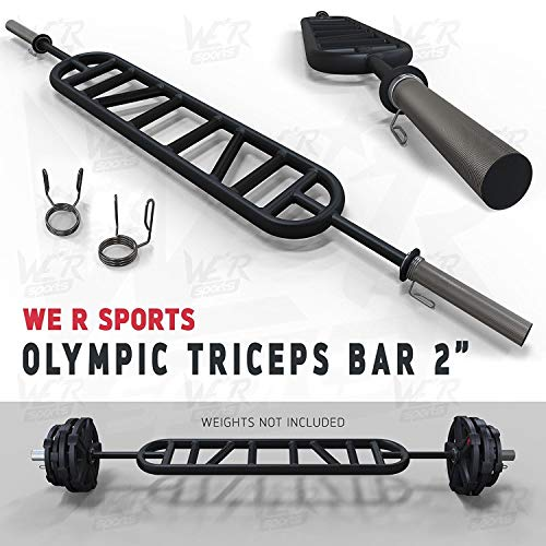 Post Hole Bar (We R Sports Triceps Bar Parallel and Angled Handle Multi Grip Olympic Bar 2