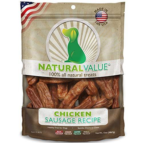 Natural Value natürlichen Wert Weich Kauen Huhn Würstchen, 397g