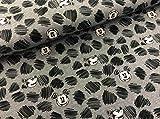 Swafing Disney BW-Jersey Mickey grau meliert 50 x 160 cm