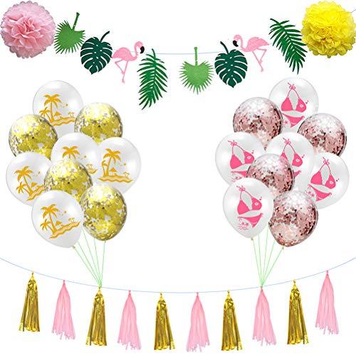 tus-Bikini-Kokosnuss-Flaggen-Fahnen-Ballon für Parteidekoration ()