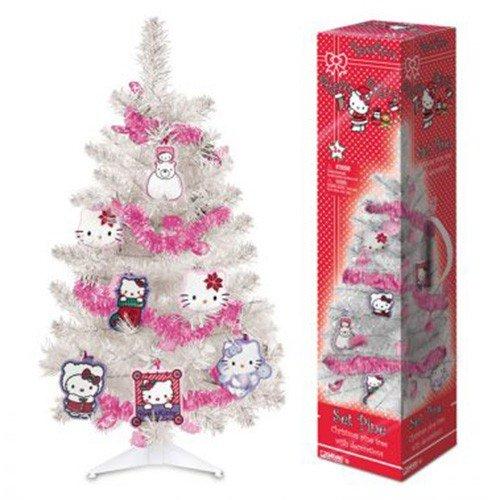 Albero di Natale Hello Kitty con Decorazioni e Ghirlanda Cameretta Bambina