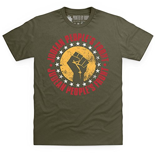 Inspired By Life Of Brian T Shirt - Judean People's Front T-shirt, Uomo Verde oliva