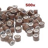 Die besten TOOGOO (R) Haarverlängerungen - Haarverlaengerung Ringe - TOOGOO(R) 500 Stueck Braun 5mm Bewertungen