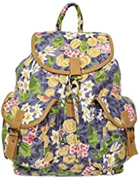 Everyday Desire Canvas Floral Print Women's Shoulder Bag - Multi Color