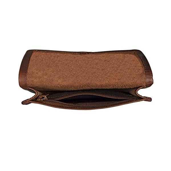 STILORD 'Flavio' Bolso Escolar o Bolsa de Piel Vintage para Tabaco Colegio Universidad Estuche o tabaquera para Hombres y Mujeres de auténtico Cuero, Color:Chocolate – marrón