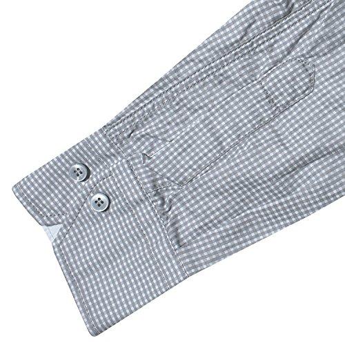 Signum, langarm Hemd, 133705859-922 Slim Cut, grau weiss kariert [15173] Grau