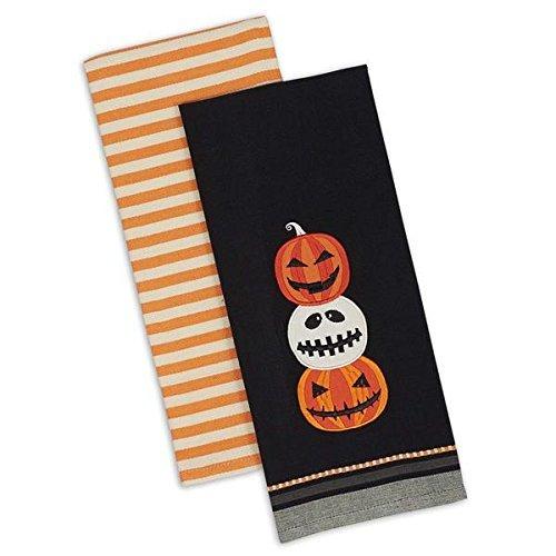 DII Halloween-Handtücher - Jack O Lantern Streifen-Design Imports - Halloween-Herbstgeschenkidee Küchendekoration (Halloween-jack Lanterns O Niedliche)