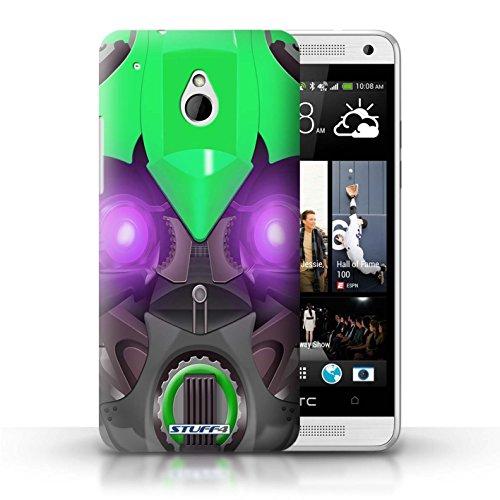 Kobalt® Imprimé Etui / Coque pour HTC One/1 Mini / Opta-Bot Rose conception / Série Robots Bumble-Bot Vert