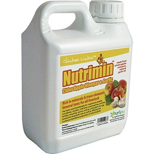 Nutrimin Apfelessig mit Knoblauch, 1Liter, für Geflügel