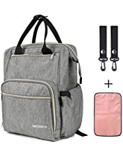 WATERFLY Diaper Bag Backpack Baby Travel Bag Nappy Tote Bag Large Capacity Maternity Backpack Multifunctional Diaper Bag for Mothers and Fathers