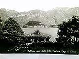 Bellagio vist dalla Villa Carlotta.. Seltene Ak s/w , Comer See, Lombardei, Italien. Blick über den See, Ortsansicht, Grbirgskulisse, Panoramablick