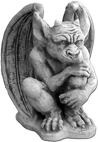 gartendekoparadies.de Große Massive Steinfigur Gargoyle – Der Wächter aus Sfteinguss frostfest