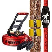 "Gibbon Slacklines Classic Line inkl. Ratschenschutz, Breite 2""/5cm Slackline-Set, Komplettset"