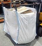 5 Stück Big Bag 100x100x120cm speziell für Holz ✔ Kaminholzsack, Holzsack, Brennholzsack ✔ luftdurchlässige Säcke ✔ ideal zum Trocknen von Brennholz
