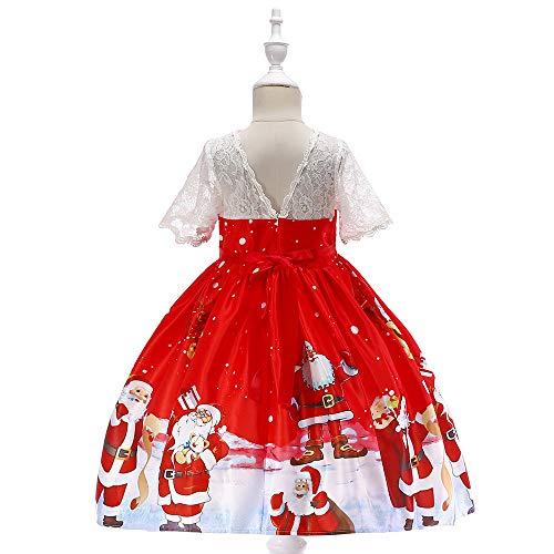 Homebaby Neonata Bambino Piccolo Costume Cosplay di Natale Babbo Stampare  Vestito Ragazze Vintage Mini Abiti Elegante Gonne A Vita Alta Tutu  Principessa ... d613619514e