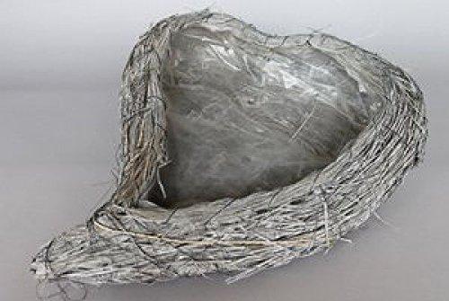 Vaso per piante a cuore Foglie di mais grigio per