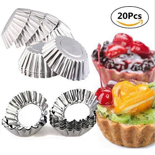 20pcs hornear circulares huevo Tarta Cupcake aluminio