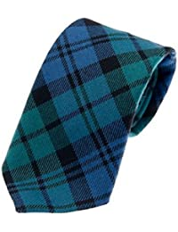 100% Reiver Wool Campbell Clan Ancient Tartan Tie & Gift Wrap - Made in Scotland