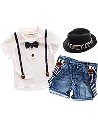 iBaste Traje de Camisa Boy Cortocircuitos T-shiet Camiseta del Verano de la Moda Camisa para Niños