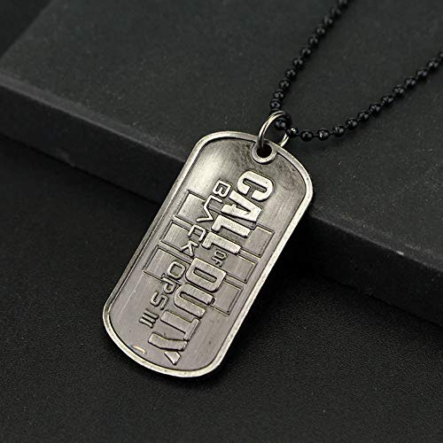 TopschnaeppchenDSH Call of Duty Black OPS III, Metall Dog Tag US Erkennungsmarke mit schwarzer Kugelkette - Call Of Dogtag Duty