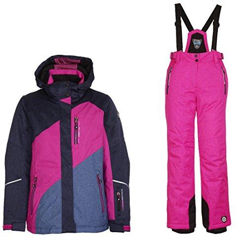 Killtec Alara Jr - Ski Set Mädchen Skianzug, Farbe:Pink;Bitte Größe wählen:176 (Mädchen Snowboard-anzug)