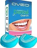 OVEO Zahnschiene Knirschen - Bißschiene Zähneknirschen - Stoppt Bruxismus - 4 Stück Wachen - Beißschiene Nachts - Zahnschiene Schnarchen