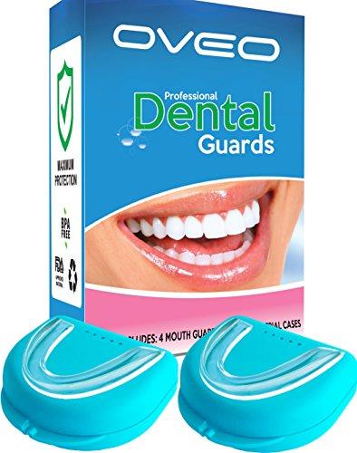 OVEO 4 x Férula Dental Bruxismo - Férulas De Descarga Para Prevenir Rechinamiento De Dientes - Nocturna Protector Bucal para dormir Anti-Ronquidos - Elimina rechinamiento de los dientes