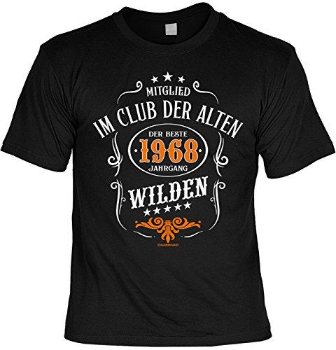 Zum Geburtstag, T-Shirt Set mit Happy Birthday Mini T-Shirt - Mitglied im Club der Alten Wilden Der Beste 1968 Jahrgang