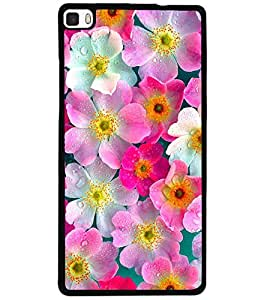 ColourCraft Lovely Flowers Design Back Case Cover for HUAWEI P8