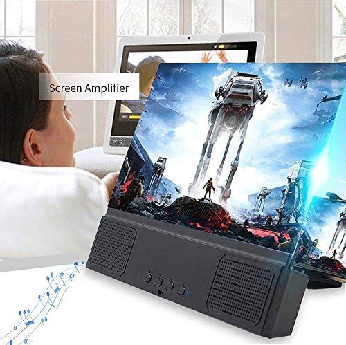 Lupa de Pantalla de teléfono 3D de 12\'\' con Altavoz, Ampliador de Pantalla estereoscópico HD para películas, Videos y Juegos, Amplificador de Pantalla para Todos los teléfonos Inteligentes