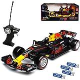 Maisto Red Bull RB13 Max Verstappen Nr 33 Formel 1 2017 27 MHz RC Funkauto - inklusive Batterien - sofort startklar 1/24 Modell Auto